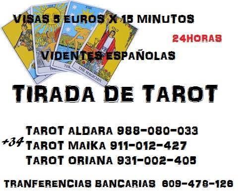 TAROT ECONOMICOS VIDENTES ESPAÑOLAS 24 H VISA 5 EUROS X 15