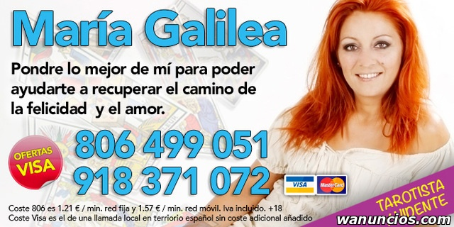 Tarot María Galilea. Tarot Visa 20 Minutos 16 € - Madrid