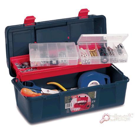 Tayg Caja de herramientas en plástico con bandeja y estuche