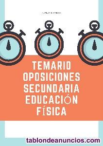 Temario oposiciones profesores educacion física