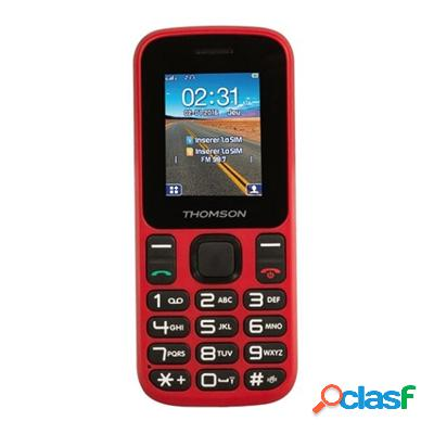 "Thomson T12 Telefono Movil 1. 77"" Bt DualSim Rojo, original"