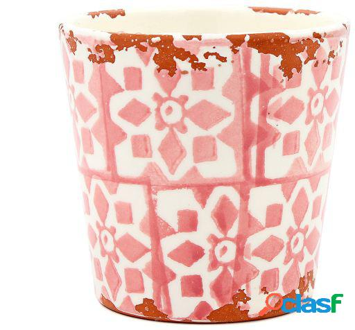 Tiesto Eura cerámica 14 x 12cm coral