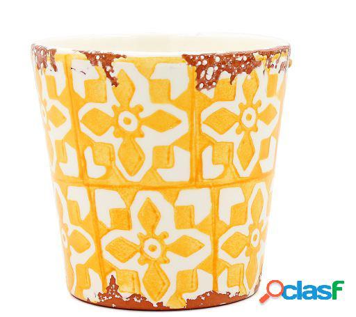 Tiesto Eura cerámica 14x12cm amarillo