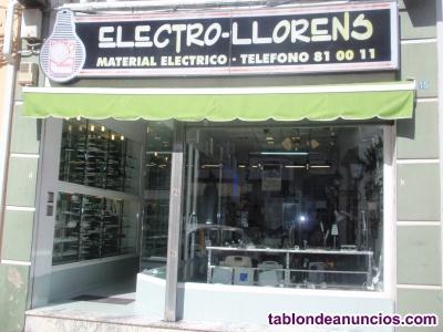 Traspaso negocio de instalaciones eléctricas y venta de