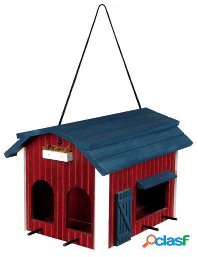 Trixie Comedero Colgante Ext, 2 Zonas,madera, 24X22X32 Cm