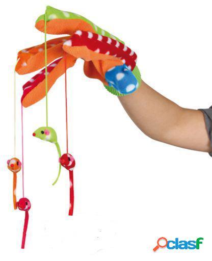 Trixie Guante Juego, con 4 ratones colgantes, multicolor
