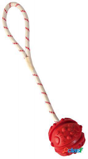Trixie Pelota c/cuerda caucho, flotante 7 cm