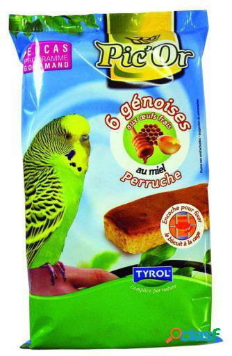 Tyrol 6 Sponge Cake Honey Parakeet 100 gr