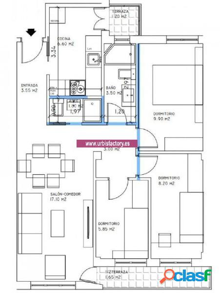 Urbis te ofrece un piso en la zona de San Isidro.