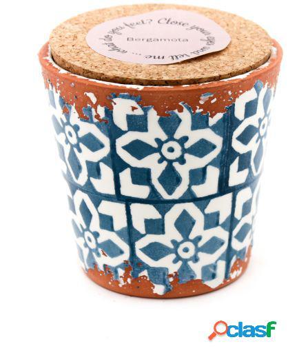 Vela Eura cerámica 10x10cm Bergamota