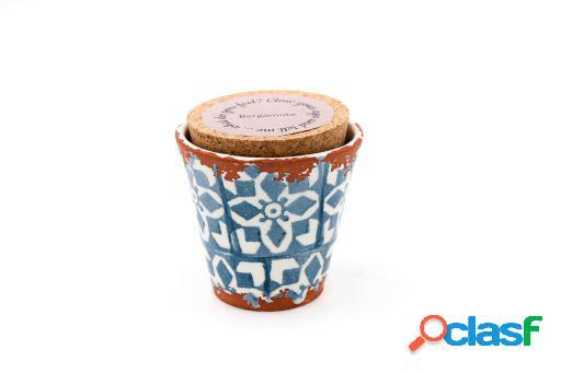 Vela Eura cerámica 8,5x8cm Bergamota