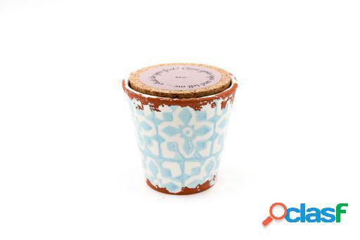 Vela Eura cerámica 8,5x8cm Mar
