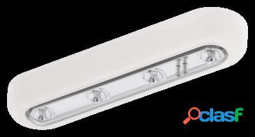 Wellindal Aplique con 4 luces led Blanco y Cromo Baliola