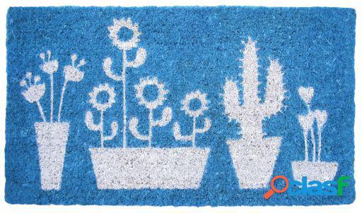 Wellindal Felpudo azul cactus 40x70cm