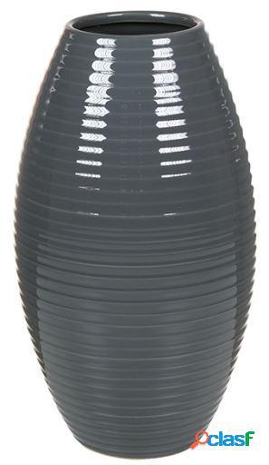 Wellindal Jarrón de cerámica gris