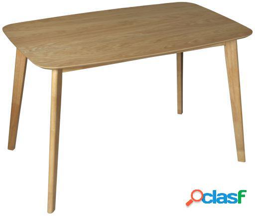 Wellindal Mesa comedor madera color roble tablero 18mm dm y