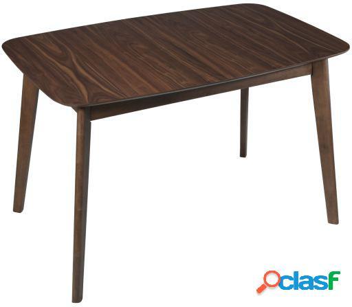 Wellindal Mesa comedor madera extensible color nogal