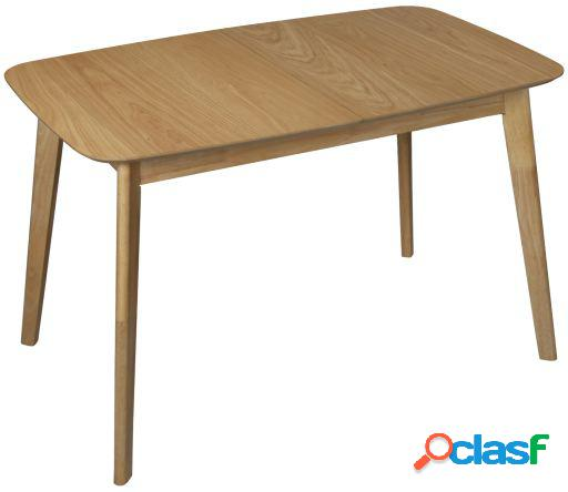 Wellindal Mesa comedor madera extensible color roble