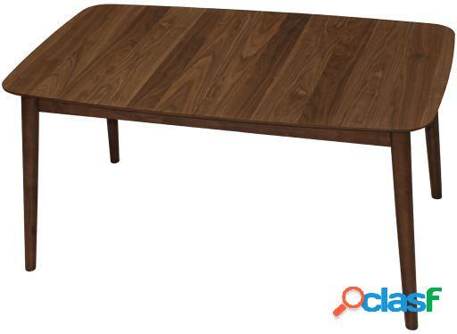 Wellindal Mesa comedor madera extensible nogal madera de