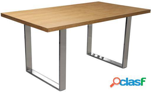 Wellindal Mesa comedor madera y metal