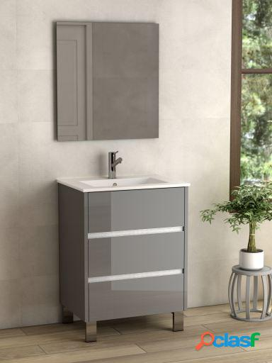 Wellindal Mueble de baño Escorpio 100cm Nogal Oscuro