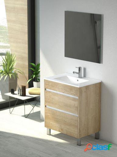 Wellindal Mueble de baño Homy 80 cm Roble Natural