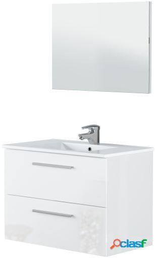 Wellindal Mueble de baño Suspendido Aruba 80cm 2 cajones y