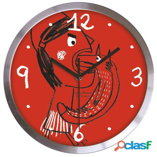 Wellindal Reloj de pared caperucita de acero inoxidable
