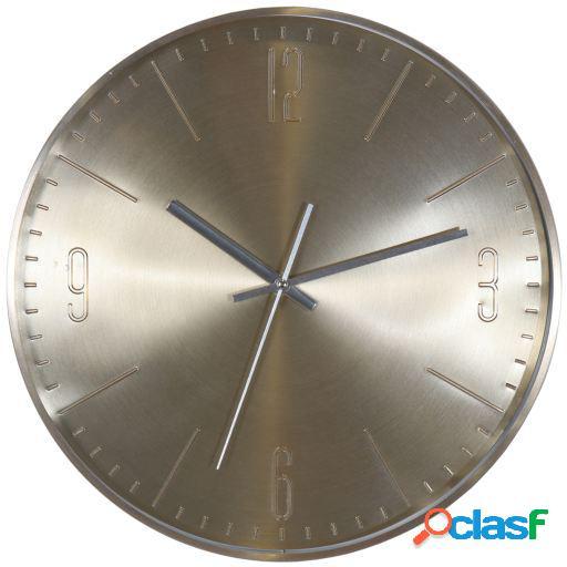 Wellindal Reloj pared aluminio dorado 31cm