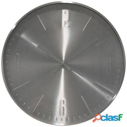 Wellindal Reloj pared aluminio plata 31cm