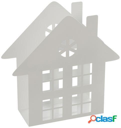 Wellindal Revistero metal blanco casa