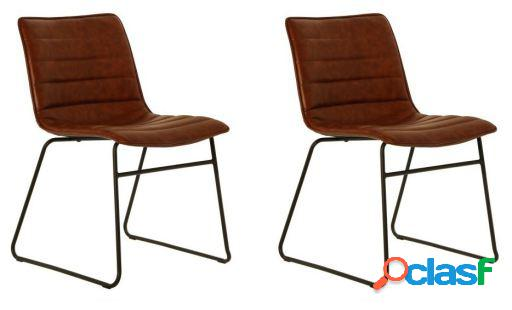 Wellindal Set 2 sillas metal asiento