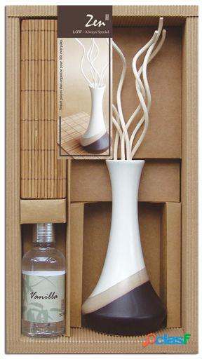 Wellindal Set regalo aromático con difusor blanco y aceite
