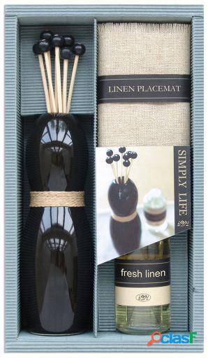 Wellindal Set regalo aromático con difusor negro y aceite
