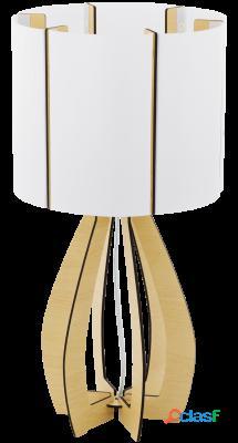 Wellindal Sobremesa 1 luz E27 Arce, Blanco Cossano
