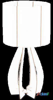 Wellindal Sobremesa 1 luz E27 Blanco Cossano