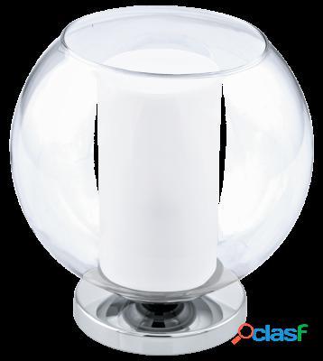 Wellindal Sobremesa 1 luz E27 Cromo,Transparente, de satén