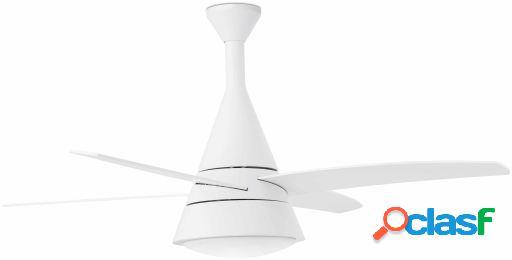 Wellindal Ventilador Con Luz Wind 132 Cms Blanco 4 Palas 2 X