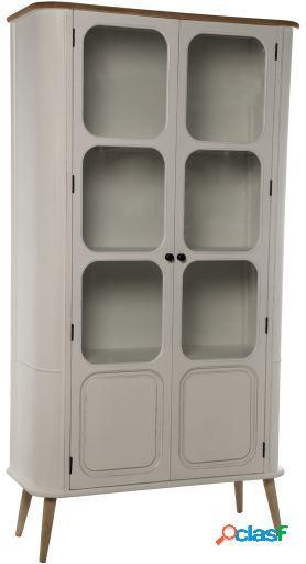 Wellindal Vitrina con 2 puertas madera