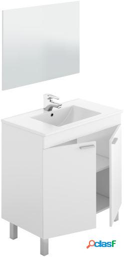 Wellindal lc1-80 mueble lavabo 80 2p+espejo