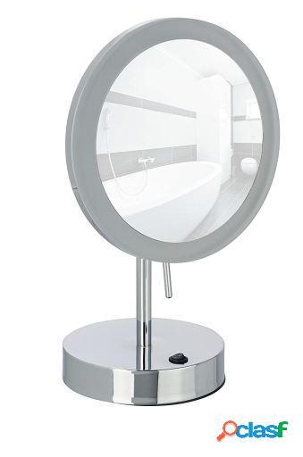 Wenko Espejo cosmetica LED Aura 20 cm 5 aum Cromado 20 x 14