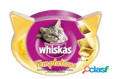 Whiskas Temptations Snacks para Gatos con Sabor a Pollo 60