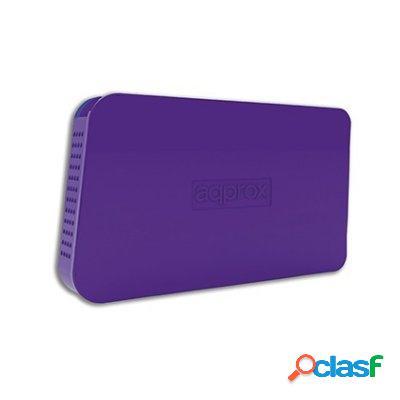 "approx! appHdd05P Caja Ext. 2. 5"" Usb 2. 0 Púrpura,"