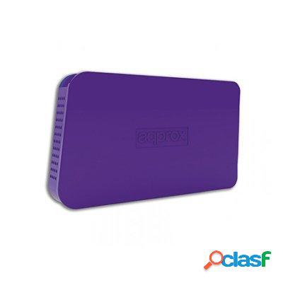 "approx! appHdd06P Caja Ext. 2. 5"" Usb 3. 0 Púrpura,"