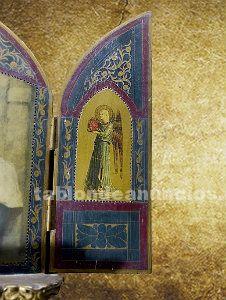 Antiguo triptico de la madonnina, de r. Ferruzzi