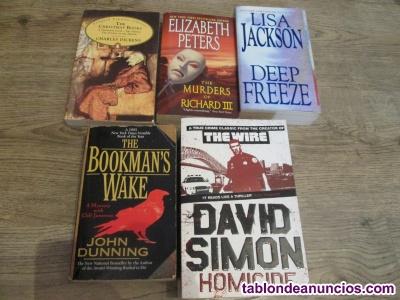 Lote de 4 novelas en inglés