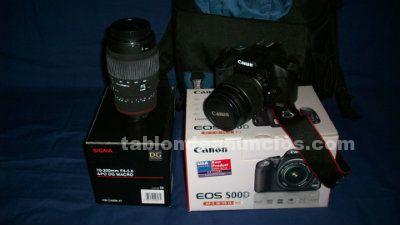 Vendo camara digital canon eos 500d