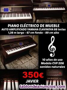 Vendo piano electrico de mueble auto amplificado