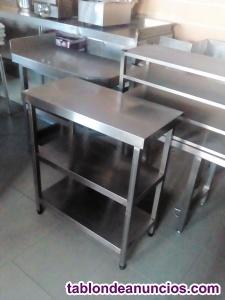 Mesas estanterias acero inoxidable