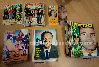 Revistas garbo y hola del año 66 al 72